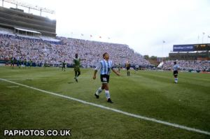 Argentina played two group matches at Foxboro, beating Greece and Nigeria.